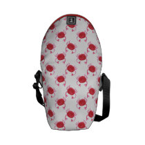 watercolorcute red crabs beach design messenger bag