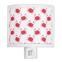 watercolorcute red crabs beach design night light