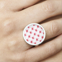 watercolorcute red crabs beach design rings