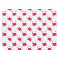 watercolorcute red crabs beach design swaddle blanket