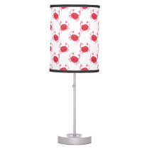 watercolorcute red crabs beach design table lamp