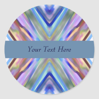 Watercolored - Brightly Colored Abstract Classic Round Sticker