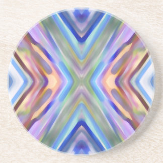 Watercolored - Brightly Colored Abstract Coaster