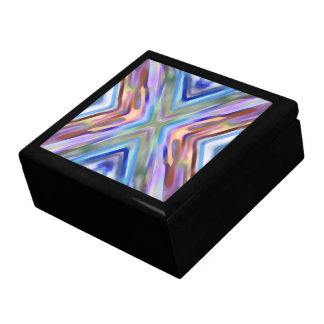 Watercolored - Brightly Colored Abstract Jewelry Box