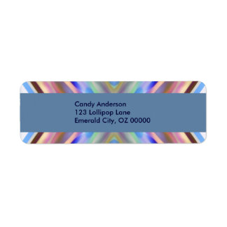 Watercolored - Brightly Colored Abstract Label