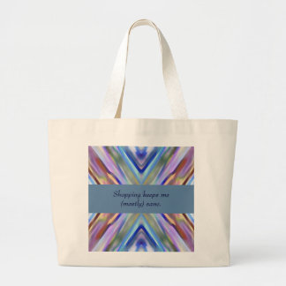 Watercolored - Brightly Colored Abstract Large Tote Bag