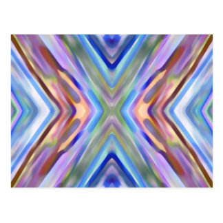 Watercolored - Brightly Colored Abstract Postcard