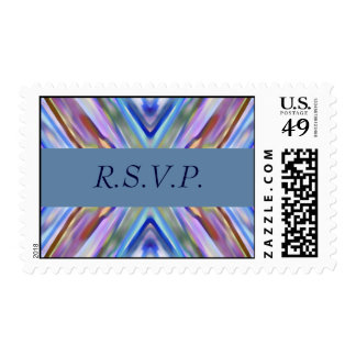 Watercolored - Brightly Colored Abstract - RSVP Postage Stamp