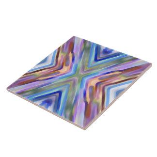 Watercolored - extracto brillantemente coloreado azulejo cuadrado grande