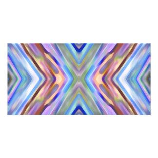 Watercolored - extracto brillantemente coloreado tarjeta personal con foto