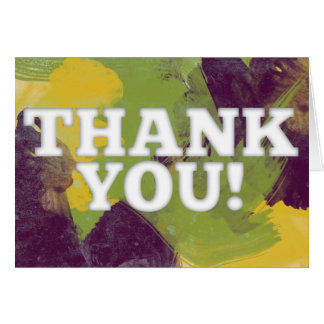 Watercolored Thank You Card