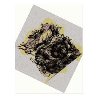 Watercolorflowersgreypagerotate Postales