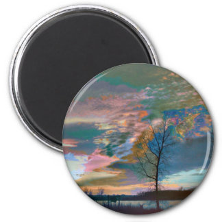 Watercolors 2 Inch Round Magnet