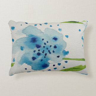 watercolors accent pillow