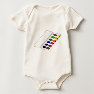 watercolors baby bodysuit