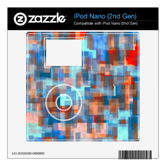 Watercolors blocks abstract design decals for iPod nano 2G