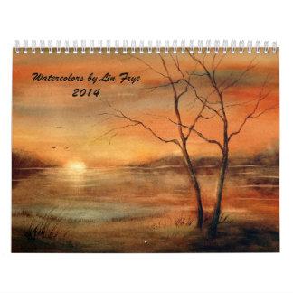Watercolors by Lin Frye 2014 Calendar