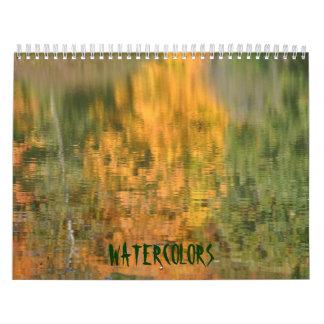 Watercolors Calendar