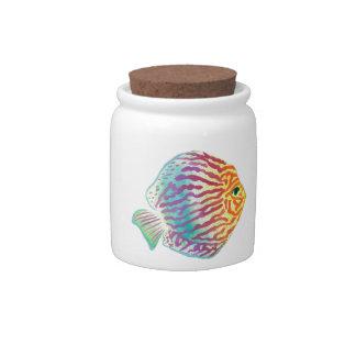Watercolors Candy Jar