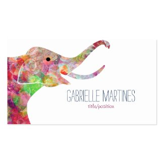 Watercolors Floral Elephant