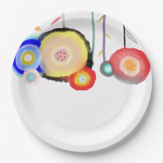 Watercolors Floral Paper Plate