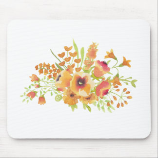 Watercolors flowers mouse pad