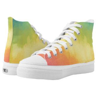 Watercolors Fun High-Top Sneakers