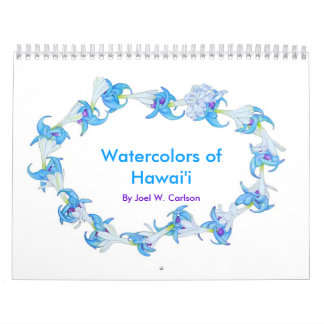 Watercolors of Hawaii Calendar
