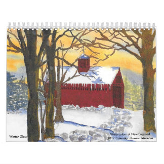 Watercolors of New England 2017 Calendar-Meserve Calendar
