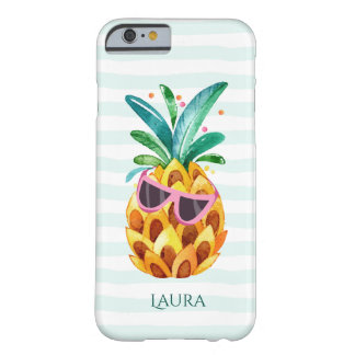 Watercolors Pineapple With Purple Sunglasses Barely There iPhone 6 Case