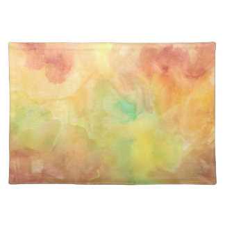 watercolors placemat