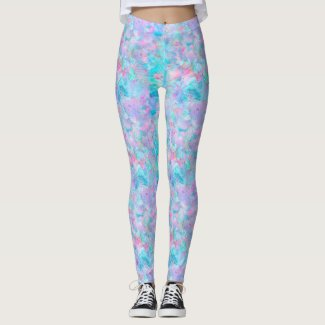 Watercolors: Rock Blue, Lilac, AeroBlue, Chantilly Leggings