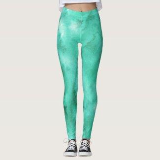 Watercolors: SeaFoam Green Leggings