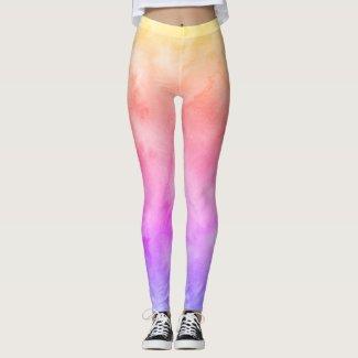 Watercolors: Warm Pastel Gradient Leggings