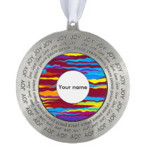 Watercolors waves abstract design ornament