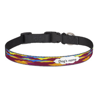 Watercolors waves abstract design pet collar