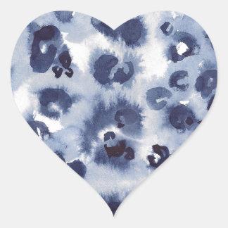 Watercolour animal #1 pegatina en forma de corazón