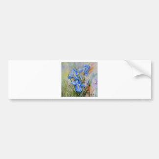 Watercolour azul del iris pegatina para auto