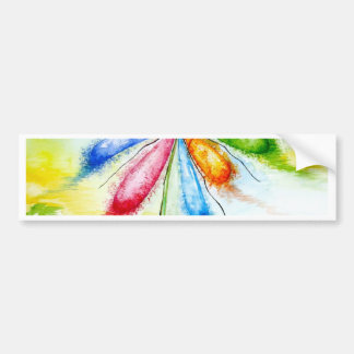 Watercolour, balloon flower bumper sticker