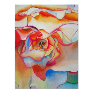 Watercolour begonia abstract original fine art poster
