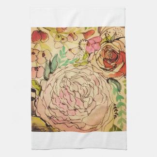 Watercolour bloom 1 kitchen towel