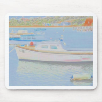 Watercolour Boats Mouse Pad