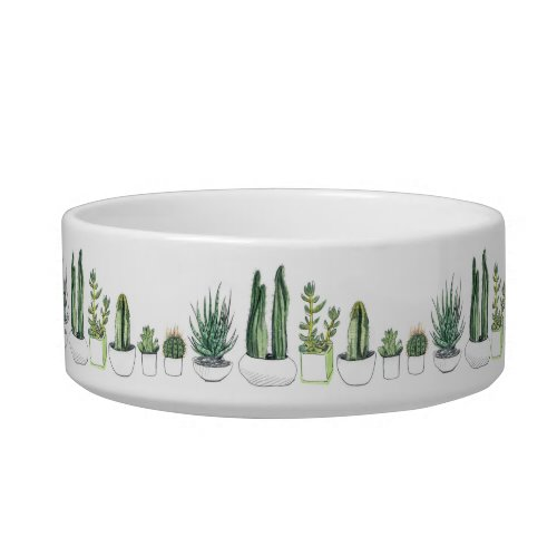 Watercolour Cacti  Succulent Bowl