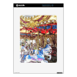 Watercolour Carousel Decals For iPad