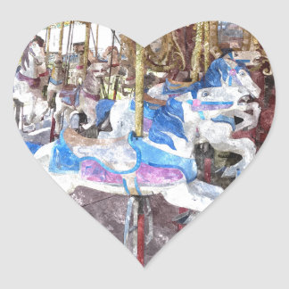 Watercolour Carousel Heart Sticker
