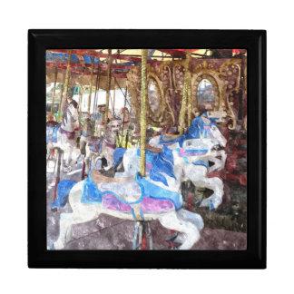 Watercolour Carousel Jewelry Box