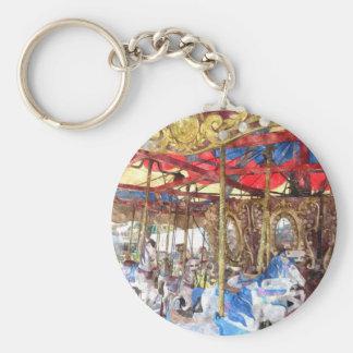 Watercolour Carousel Keychain