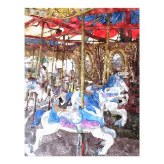 Watercolour Carousel Letterhead