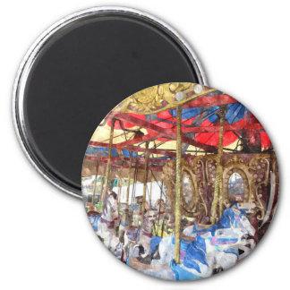Watercolour Carousel Magnet