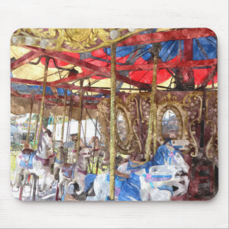 Watercolour Carousel Mouse Pad